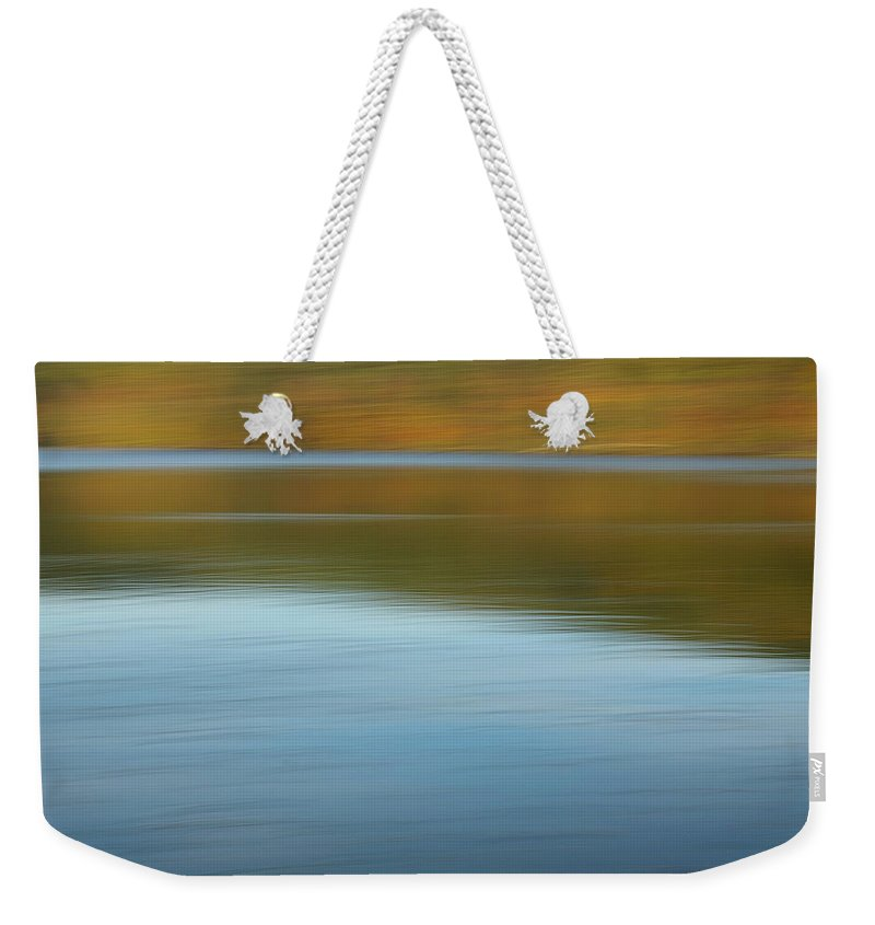 Lakes Weekender Tote Bag featuring the photograph Speed Across The Lake by Randy Pollard