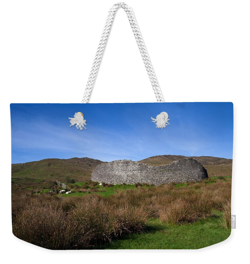 Photography Weekender Tote Bag featuring the photograph Staigue Fort At 2,500 Years Old One by Panoramic Images