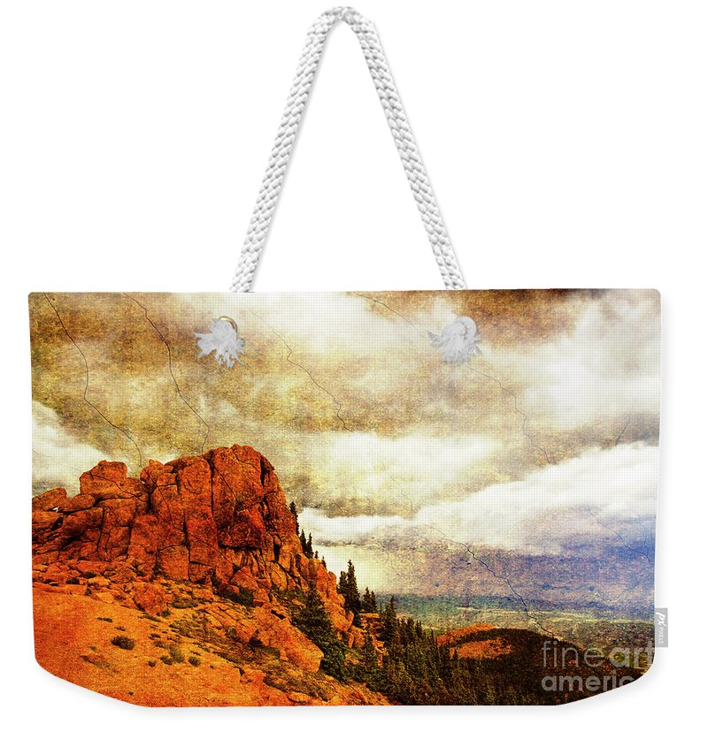Storm Weekender Tote Bag featuring the photograph Standing Against The Storm by Scott Pellegrin