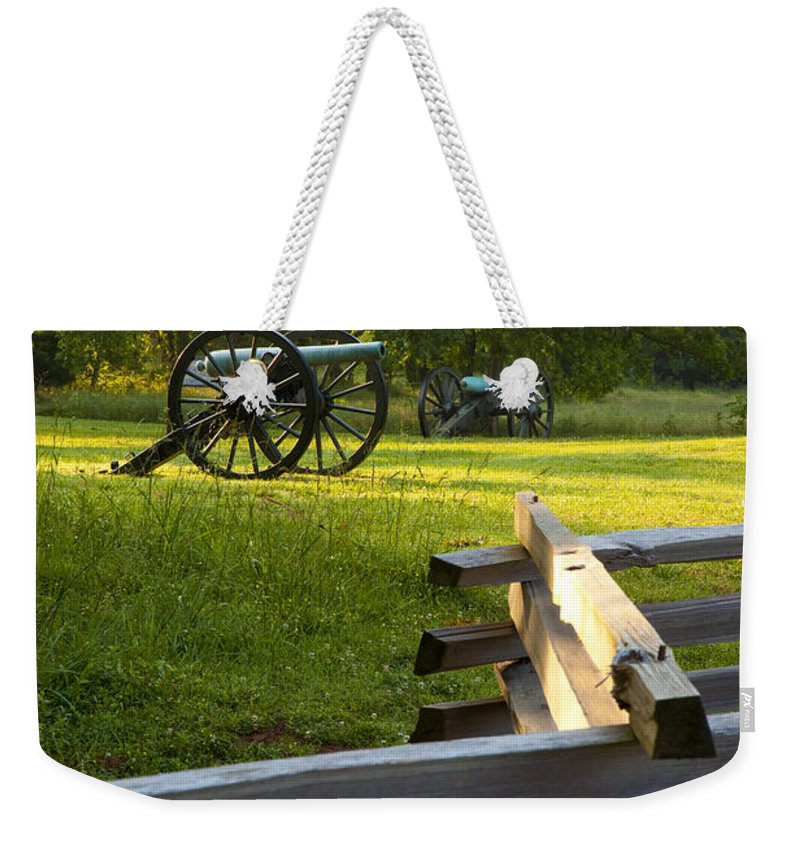 Cannon Weekender Tote Bag featuring the photograph Stones River Battlefield by Brian Jannsen