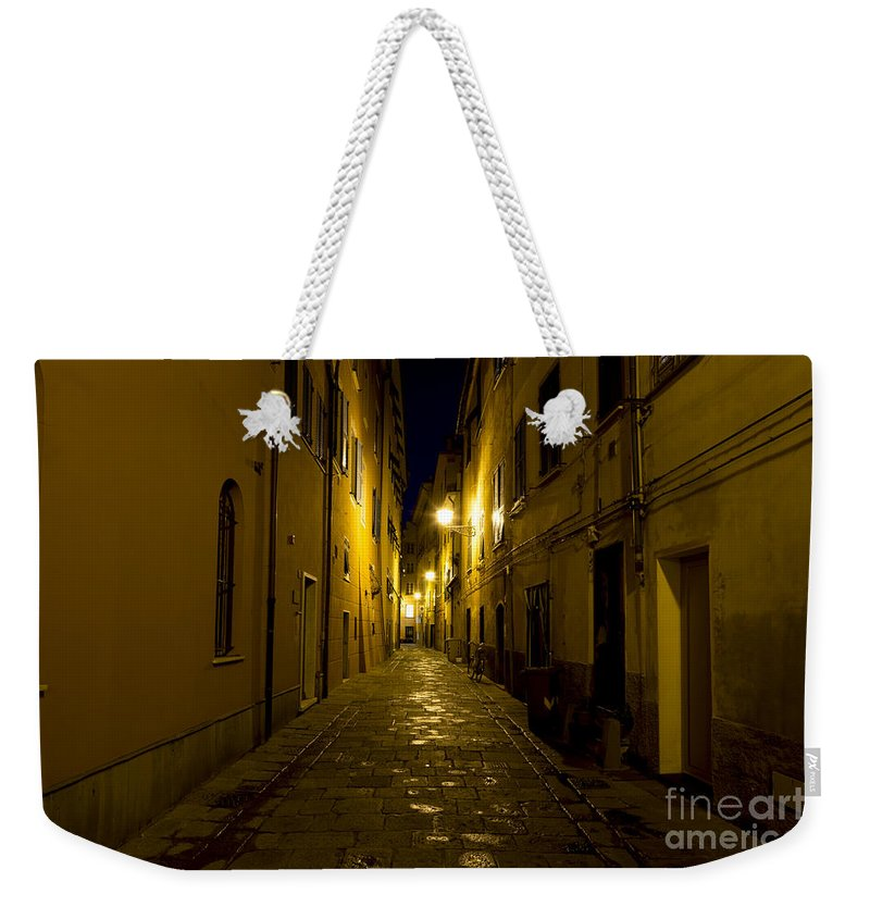 Alley Weekender Tote Bag featuring the photograph Street Alley By Night by Mats Silvan