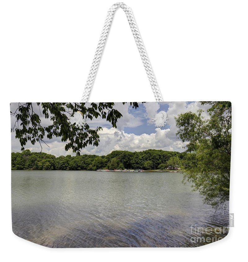 Backgrounds Weekender Tote Bag featuring the photograph Summer Time At Moraine View State Park by Alan Look