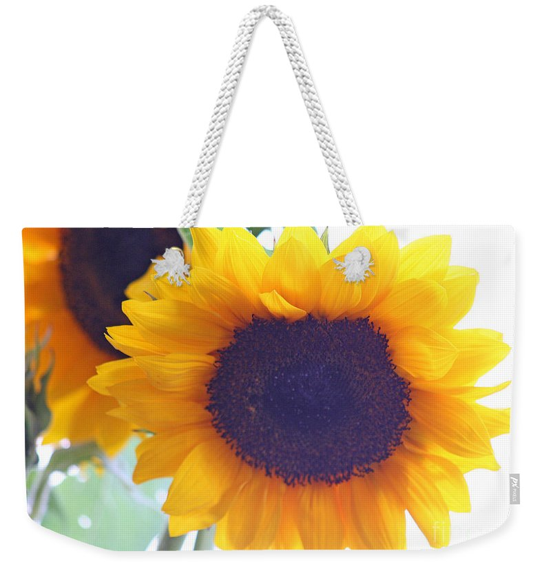 Sunflower Weekender Tote Bag featuring the photograph Sunflower by Karen Adams