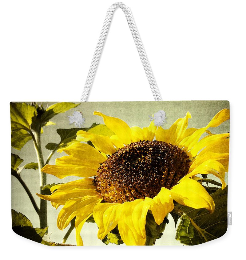 Bloom Weekender Tote Bag featuring the photograph Sunflower by Les Cunliffe