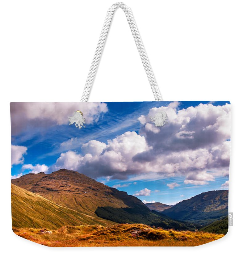 Scotland Weekender Tote Bag featuring the photograph Sunny Day At Rest And Be Thankful. Scotland by Jenny Rainbow