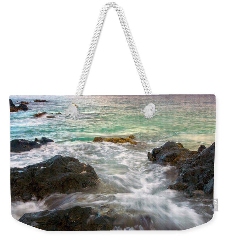 Sunrise Weekender Tote Bag featuring the photograph Sunrise Surge by Mike Dawson