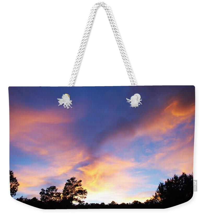 Becky Furgason Weekender Tote Bag featuring the photograph #takeadeepbreath by Becky Furgason