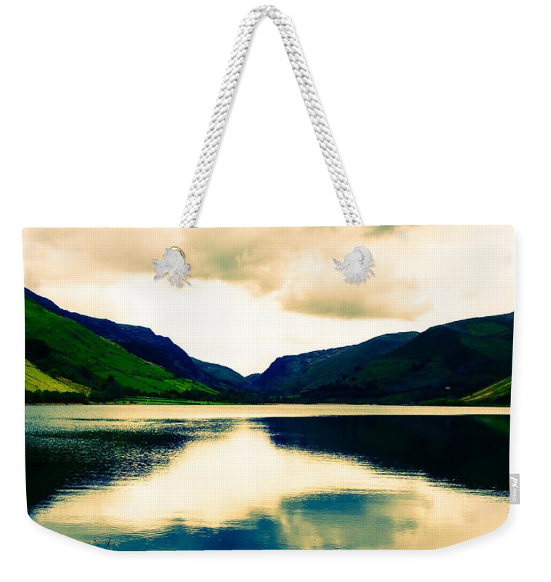 Canvas Weekender Tote Bag featuring the photograph Talyllyn Lake Snowdonia by Mark Llewellyn