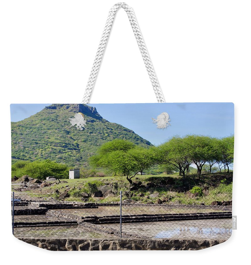 Agriculture Weekender Tote Bag featuring the photograph Tamarin Salt Farm by Tom Gowanlock