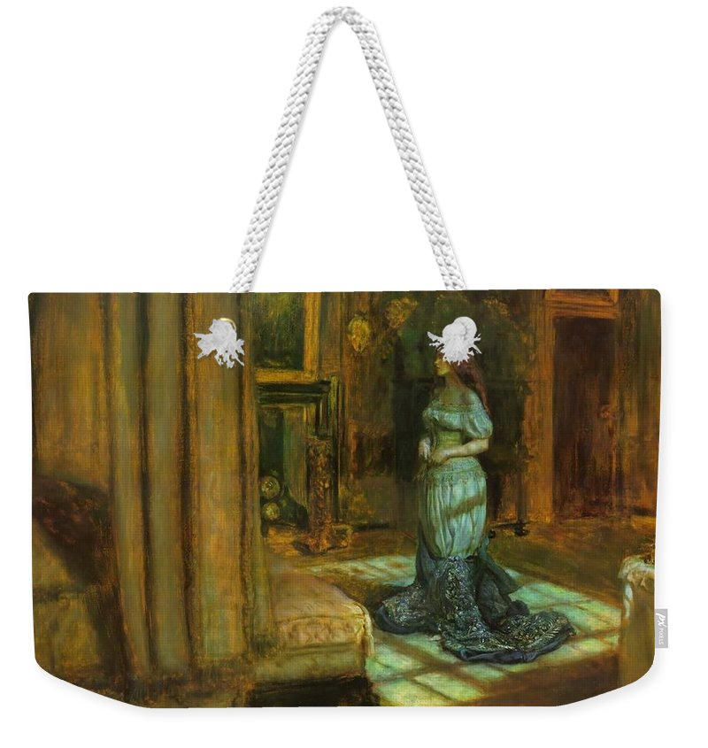 John Weekender Tote Bag featuring the painting The Eve Of St Agnes by Philip Ralley
