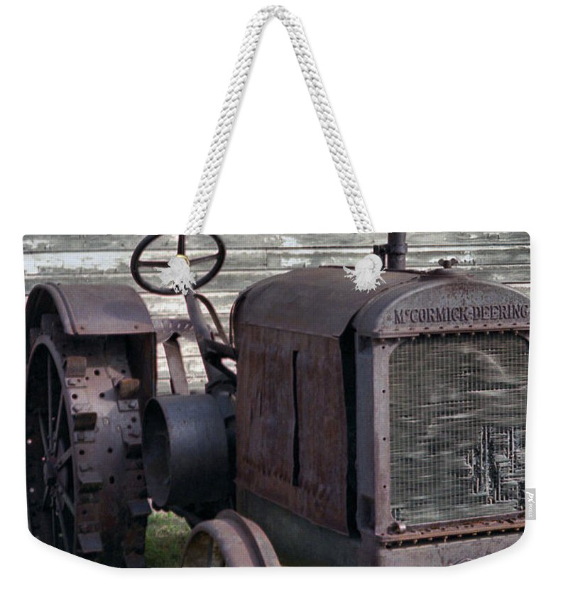 Farm Tractor Weekender Tote Bag featuring the photograph The Old Mule by Richard Rizzo