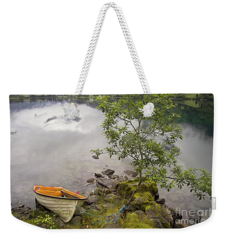 Europe Weekender Tote Bag featuring the photograph The Rowing Boat by Heiko Koehrer-Wagner