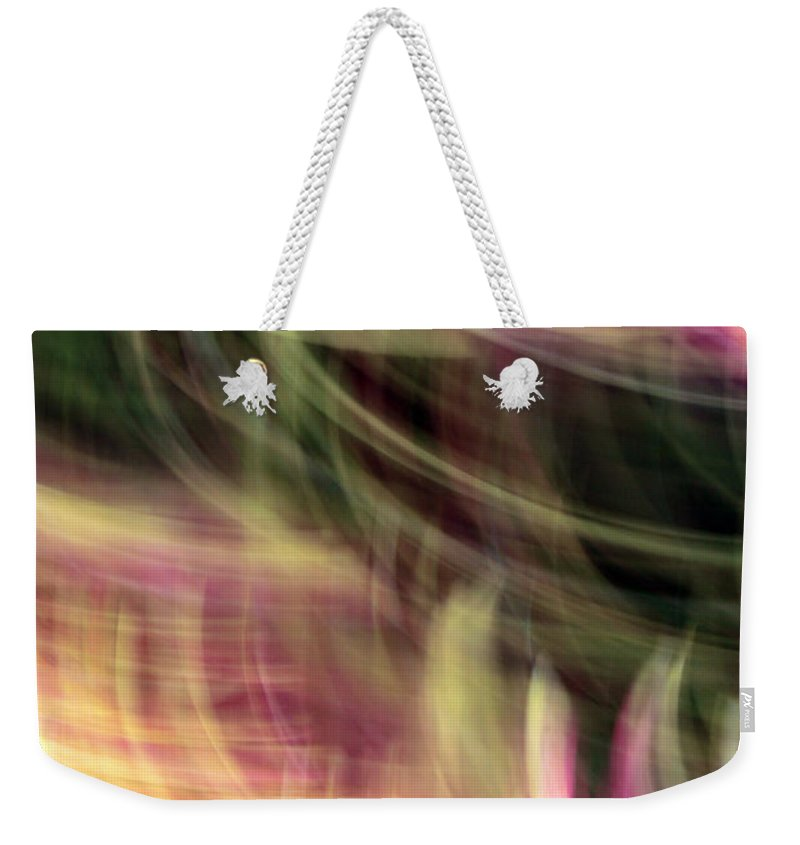 Lines Weekender Tote Bag featuring the photograph The Separation by Munir Alawi
