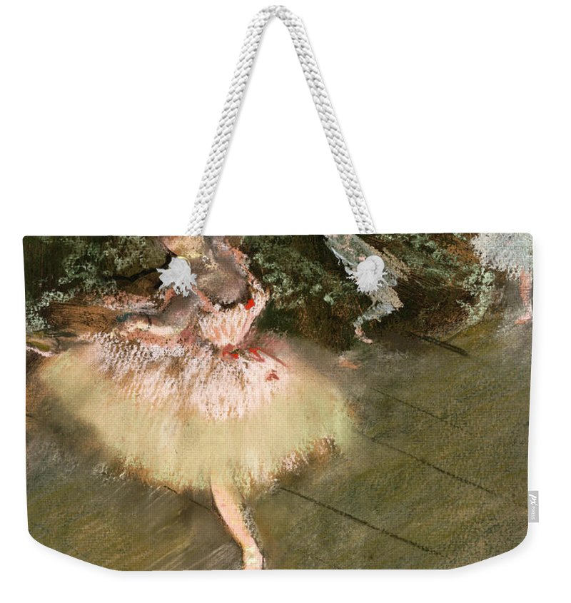Edgar Degas Weekender Tote Bag featuring the painting The Star by Edgar Degas