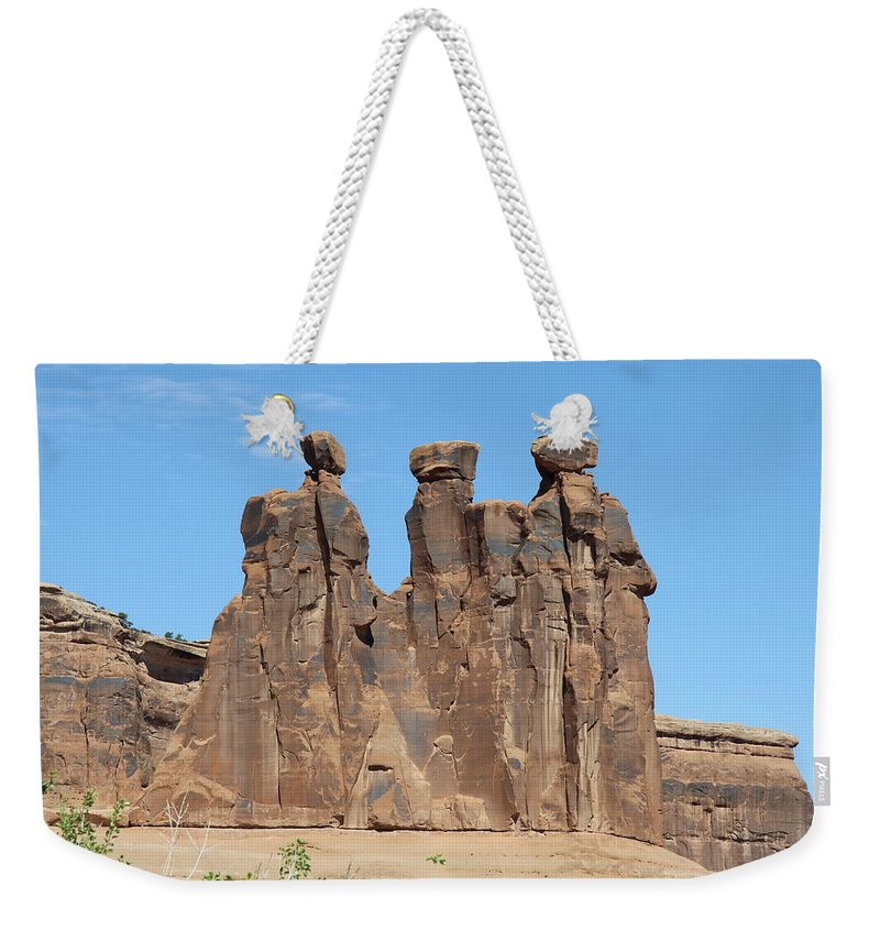 Three Gossips Weekender Tote Bag featuring the photograph The Three Gossips by Christiane Schulze Art And Photography