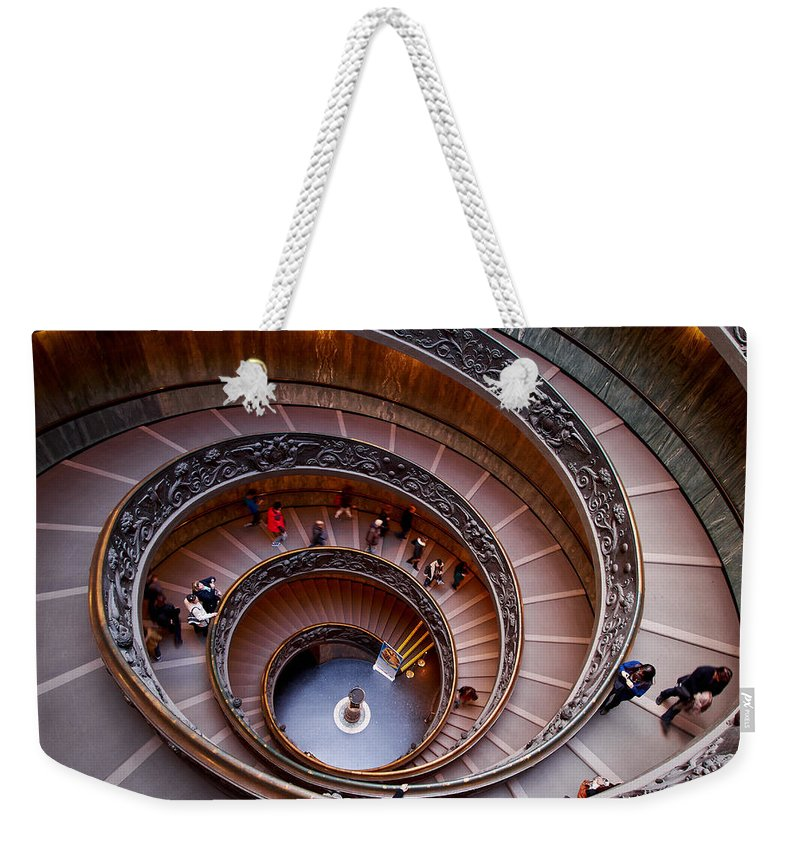 2013. Weekender Tote Bag featuring the photograph The Vatican Stairs by Jouko Lehto