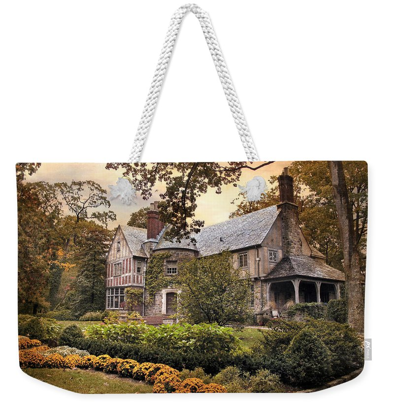 Home Weekender Tote Bag featuring the photograph Tudor In Autumn by Jessica Jenney