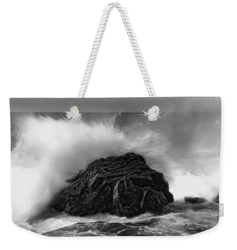 Ocean Weekender Tote Bag featuring the photograph Turned To Stone by Donna Blackhall