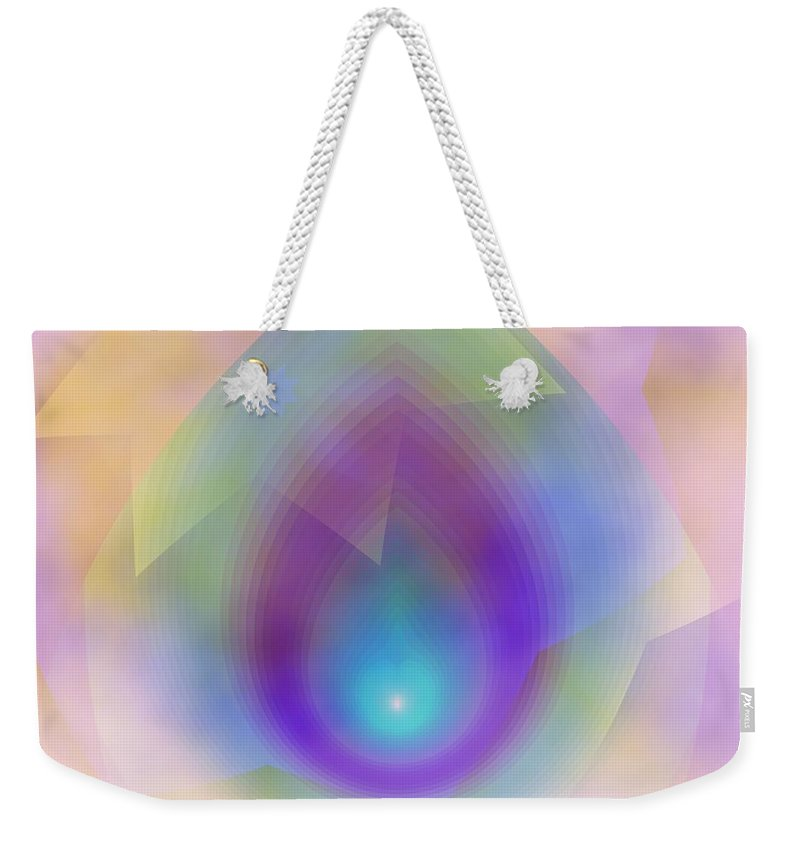 Egg Weekender Tote Bag featuring the digital art Easter Egg by Elizabeth McTaggart
