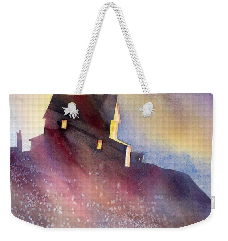 Architecture Weekender Tote Bag featuring the painting Up There by Mohamed Hirji
