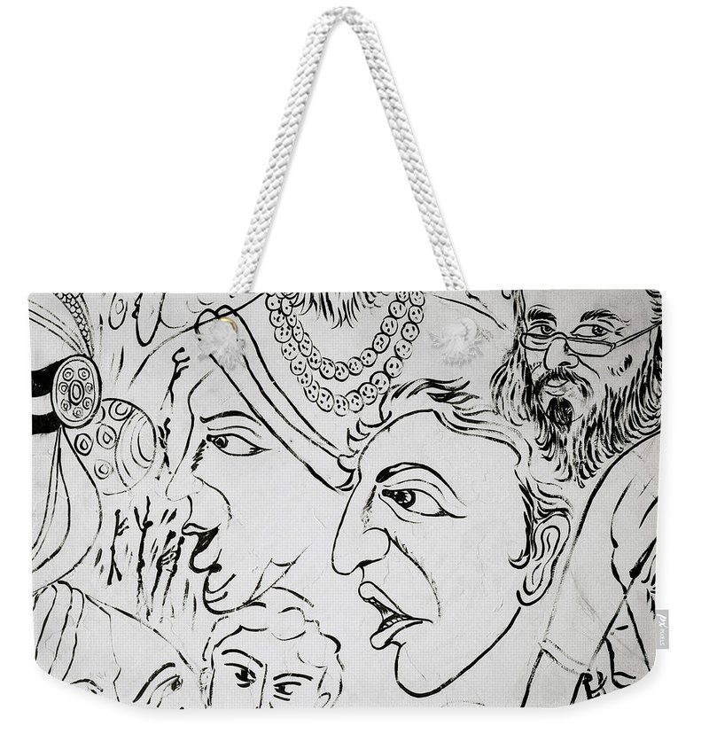 Graffiti Weekender Tote Bag featuring the photograph Urban People by Shaun Higson