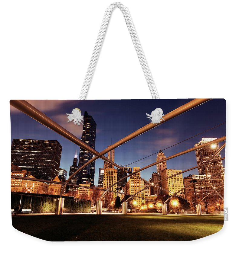 Downtown District Weekender Tote Bag featuring the photograph Usa, Illinois, Chicago, Cityscape by Henryk Sadura