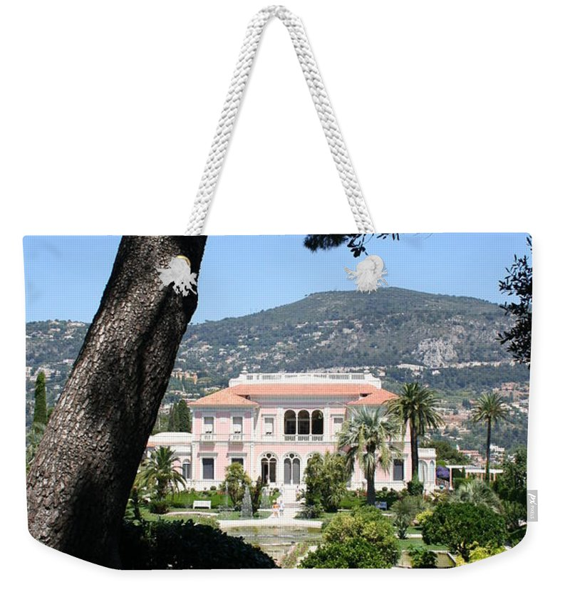Villa Weekender Tote Bag featuring the photograph Villa Ephrussi De Rothschild by Christiane Schulze Art And Photography