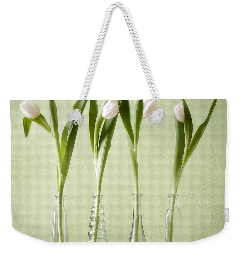 Tulpen Weekender Tote Bag featuring the pyrography Waiting For Spring by Steffen Gierok