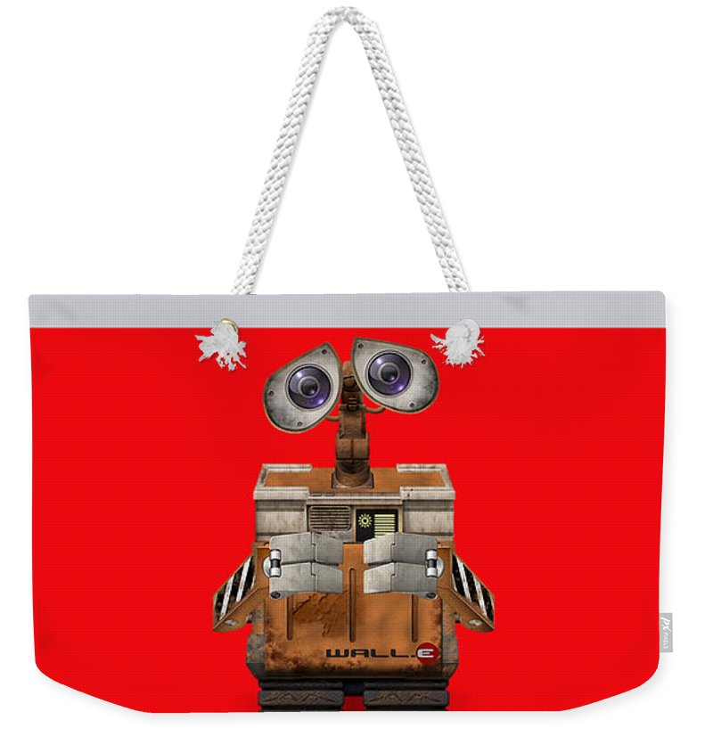 Home Mixed Media Mixed Media Weekender Tote Bag featuring the mixed media Wall E by Marvin Blaine