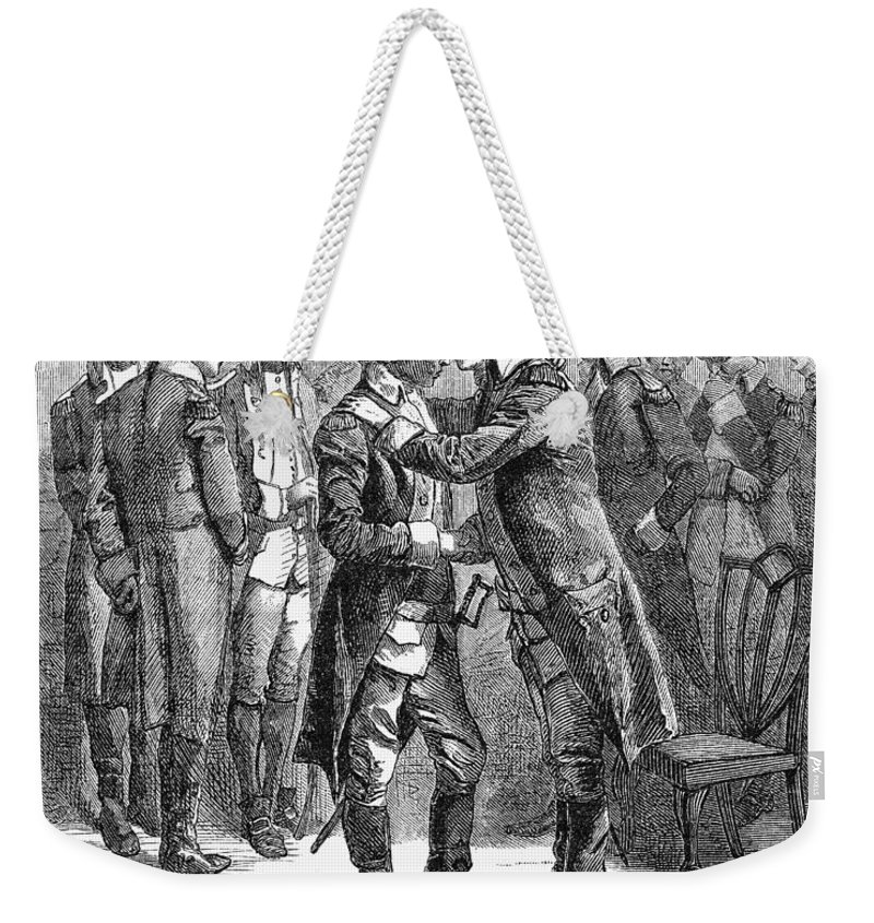 1783 Weekender Tote Bag featuring the photograph Washingtons Farewell by Granger