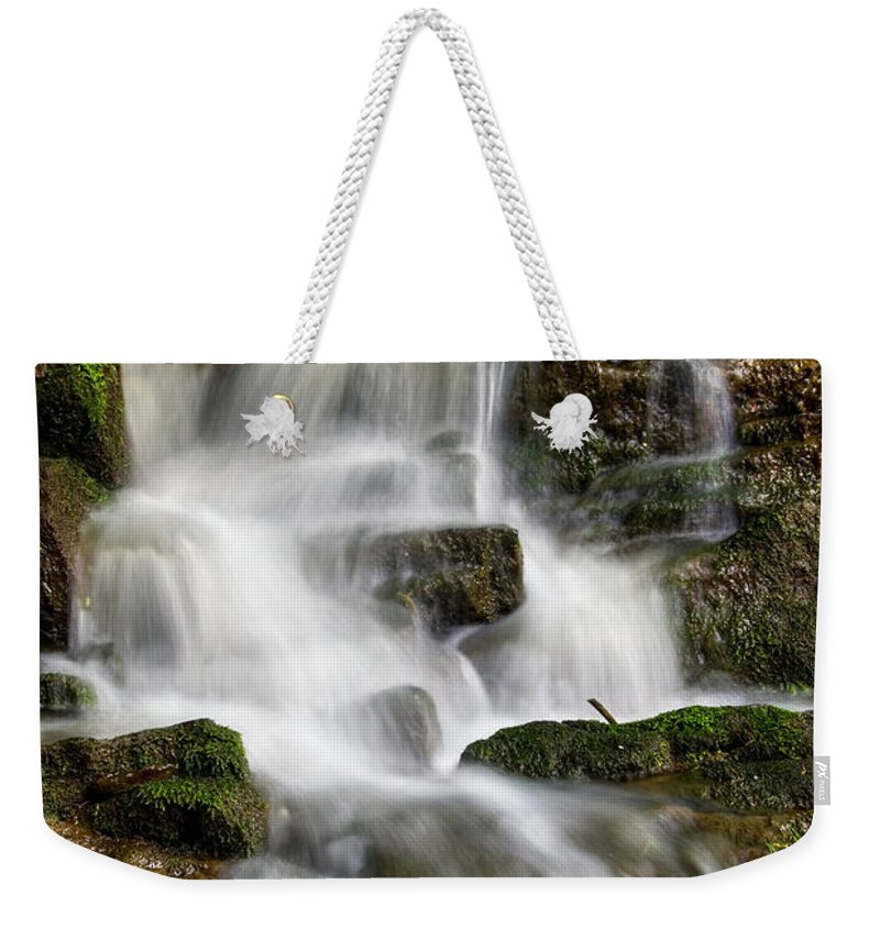 Hdr Weekender Tote Bag featuring the pyrography Waterfall by Steffen Gierok