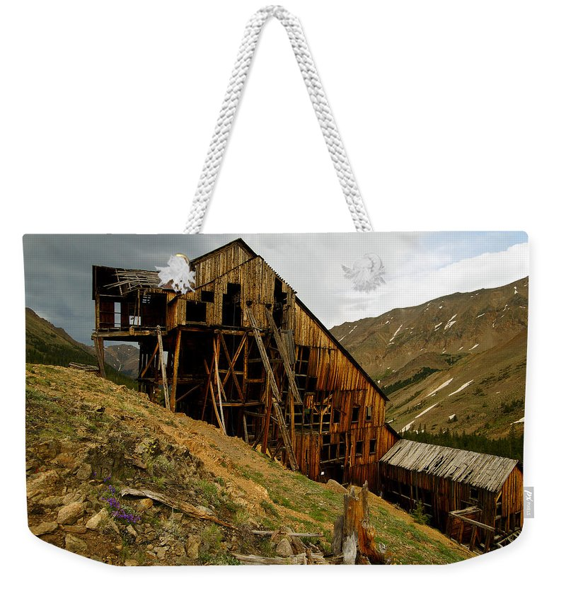 Altitude10k Photography Weekender Tote Bag featuring the photograph Weathered by Jeremy Rhoades