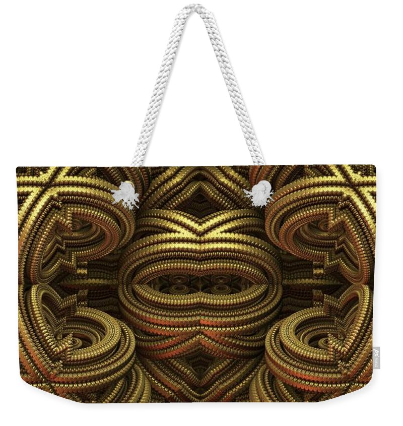 Fractal Weekender Tote Bag featuring the digital art 20120331-1 by Lyle Hatch