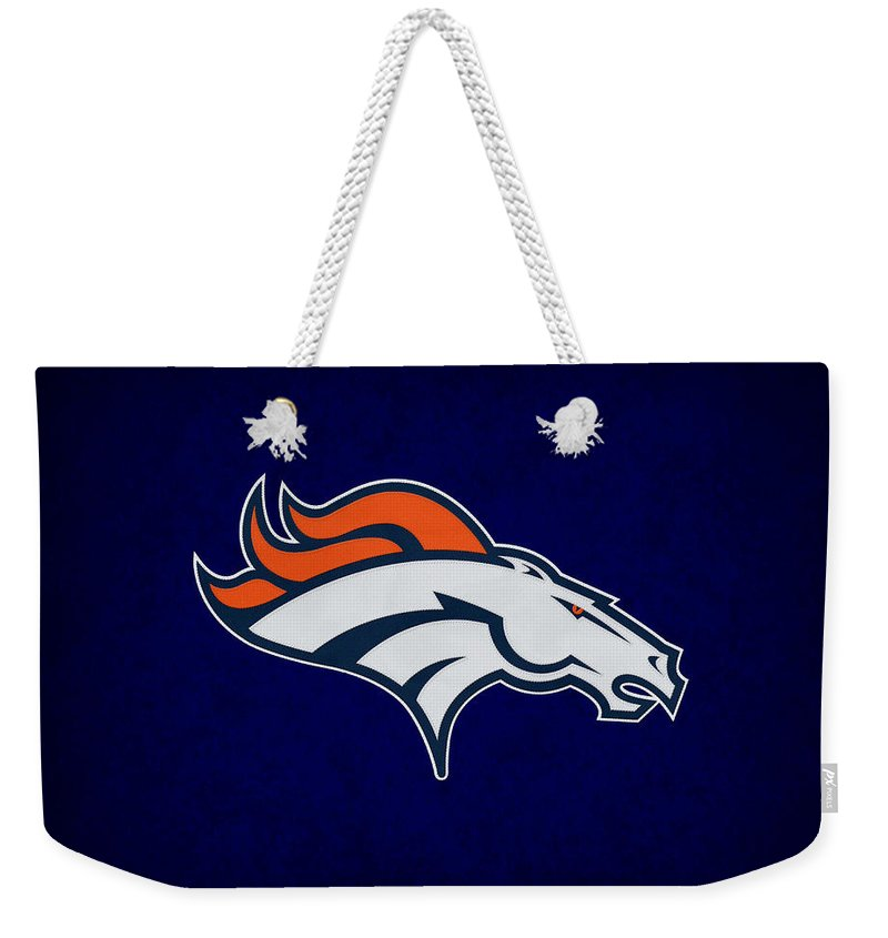 Broncos Weekender Tote Bag featuring the photograph Denver Broncos by Joe Hamilton