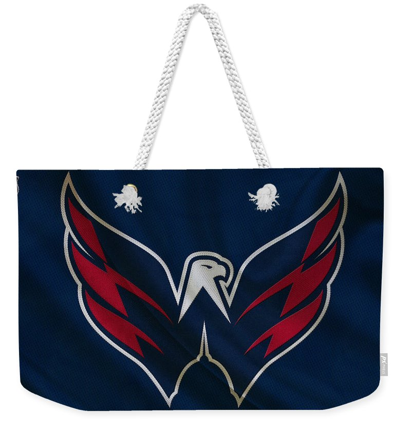 Capitals Weekender Tote Bag featuring the photograph Washington Capitals by Joe Hamilton