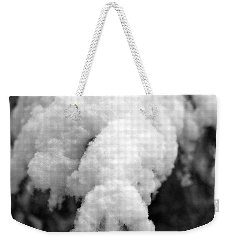 Lehtokukka Weekender Tote Bag featuring the photograph First Snow In Kovero by Jouko Lehto
