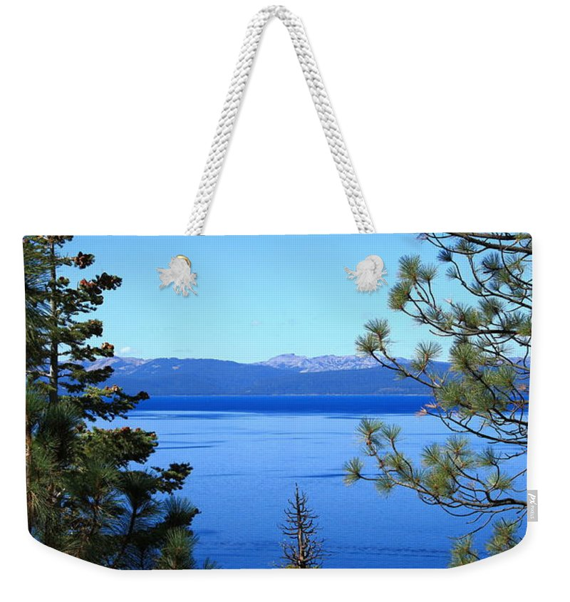 Alpine Weekender Tote Bag featuring the photograph Lake Tahoe by Frank Romeo