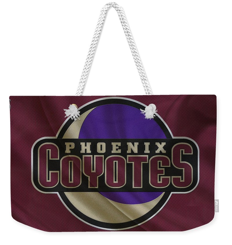 Coyotes Weekender Tote Bag featuring the photograph Phoenix Coyotes by Joe Hamilton