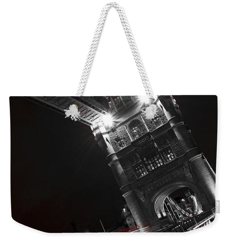 Tower Bridge Weekender Tote Bag featuring the photograph Tower Bridge London by David Pyatt