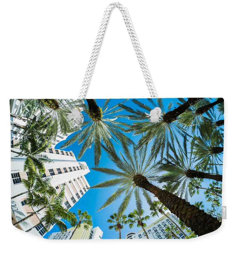 Architecture Weekender Tote Bag featuring the photograph Miami Beach by Raul Rodriguez