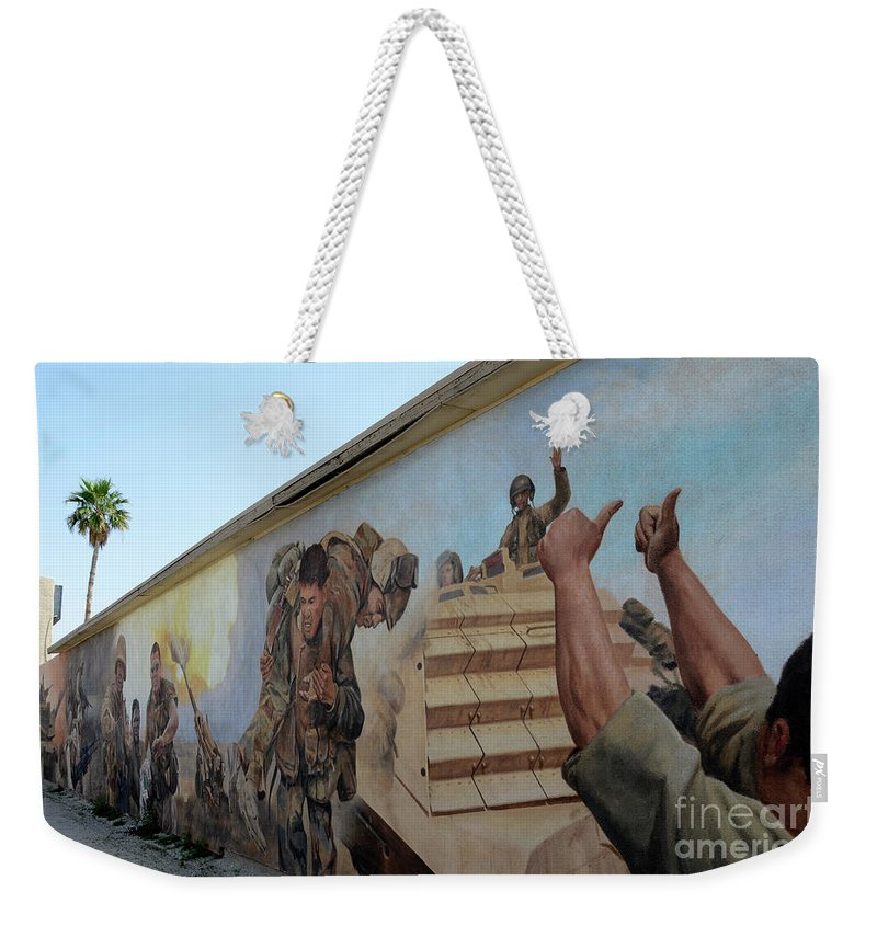 Mural Weekender Tote Bag featuring the photograph 29 Palms Mural 4 by Bob Christopher