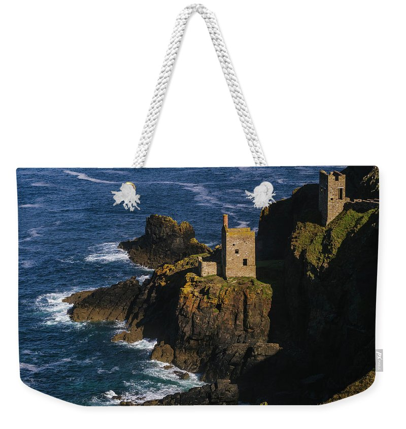 Scenics Weekender Tote Bag featuring the photograph Abandoned Tin Mines Near Bottalack by Doug Armand