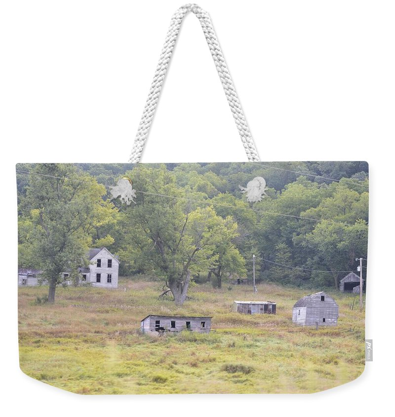 Farm Weekender Tote Bag featuring the photograph Abandonment by Bonfire Photography