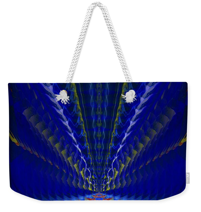 Original Weekender Tote Bag featuring the painting Abstract 105 by J D Owen