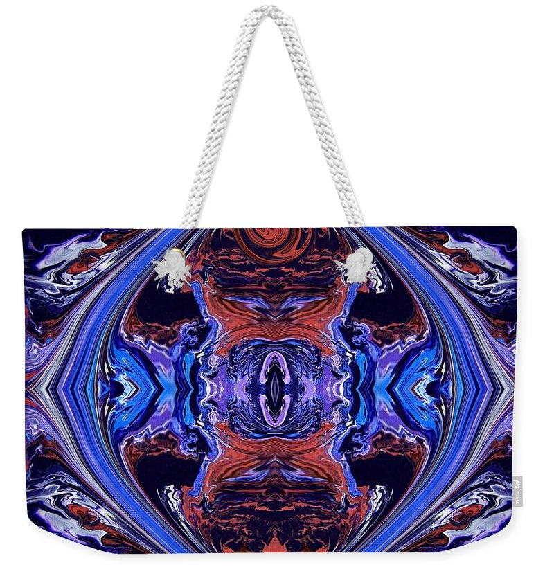 Original Weekender Tote Bag featuring the painting Abstract 110 by J D Owen