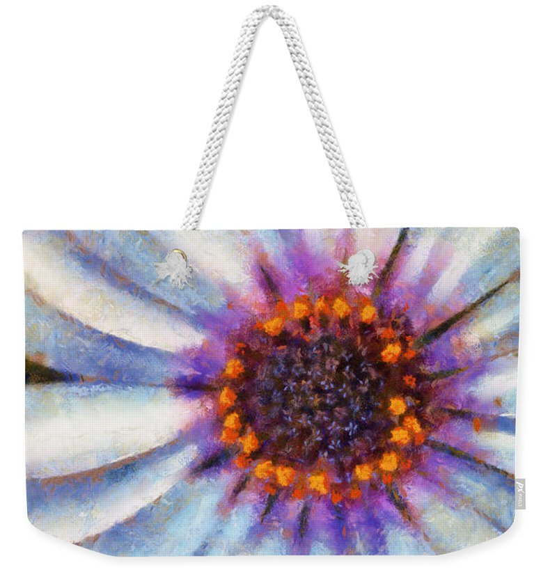 Daisy Weekender Tote Bag featuring the painting African Daisy by Lynne Jenkins