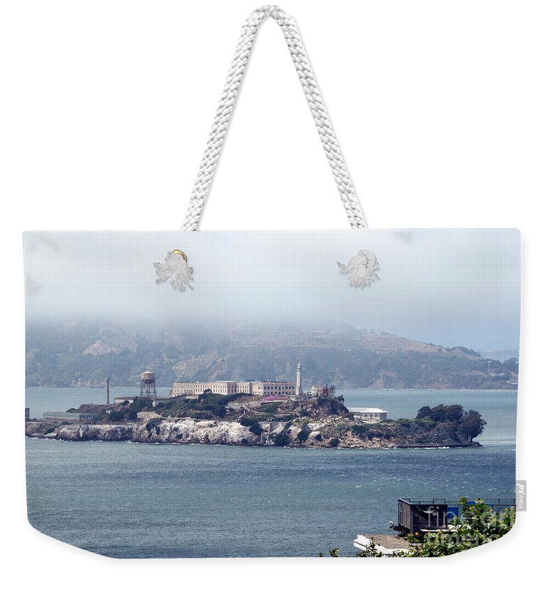 Alcatraz Weekender Tote Bag featuring the photograph Alcatraz by Henrik Lehnerer