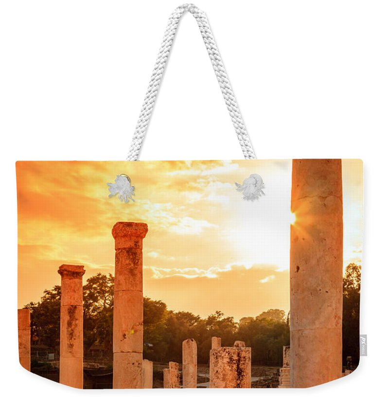 Beit She'an Weekender Tote Bag featuring the photograph Beit She'an by Alexey Stiop