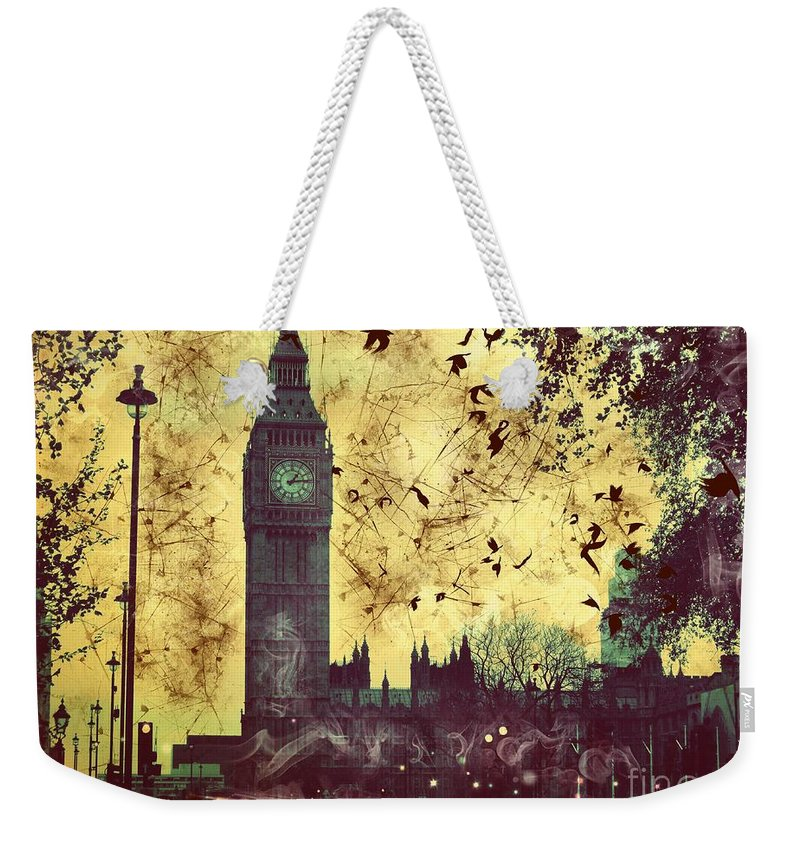 Big Ben Weekender Tote Bag featuring the digital art Big Ben by Marina McLain