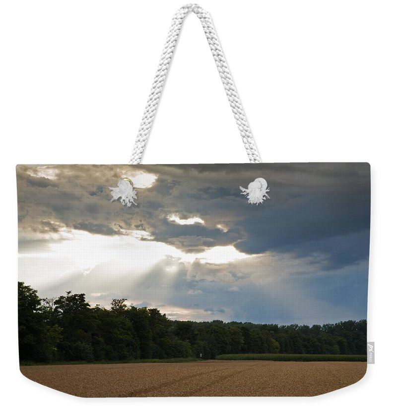 Wheat Weekender Tote Bag featuring the photograph Breaking Storm by Ian Middleton